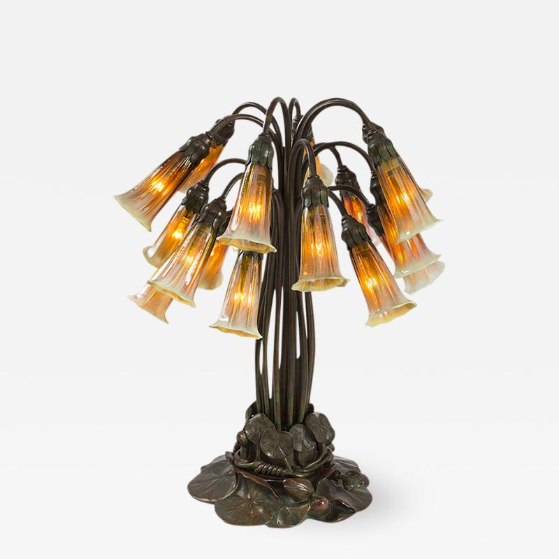 Tiffany and Co Eighteen Light Lily Tiffany Lamp