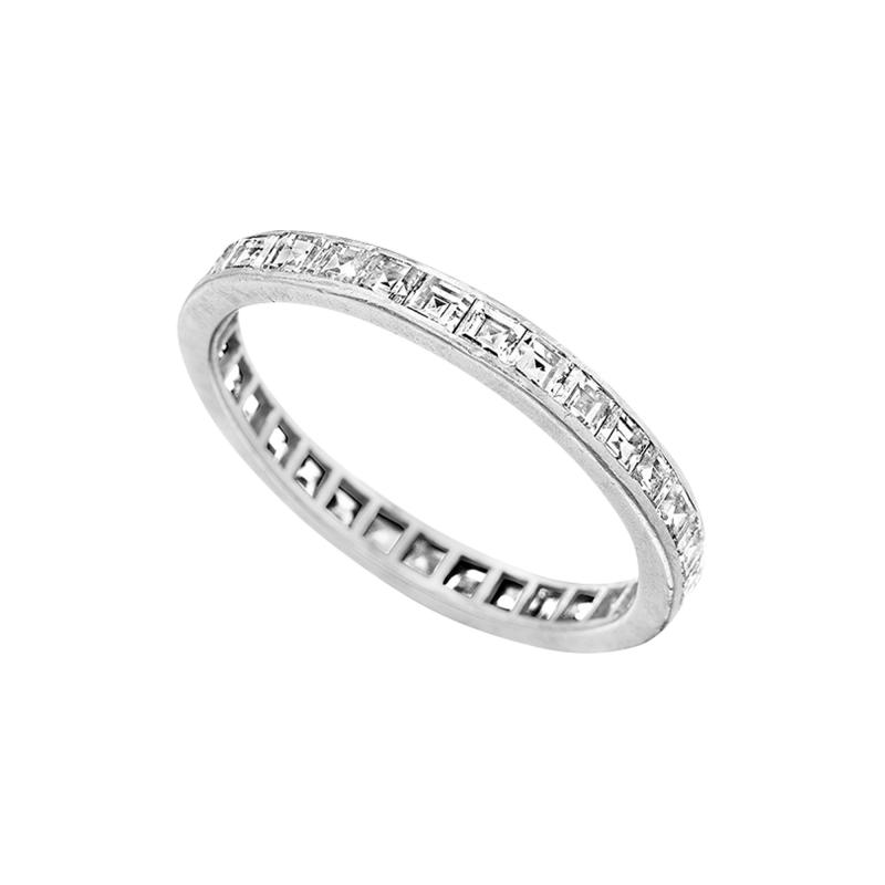 Tiffany and Co Platinum Ring with Diamonds by Tiffany Co