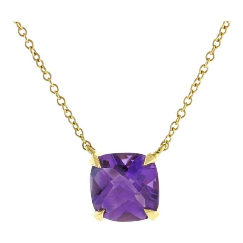 Tiffany and Co Tiffany Co Amethyst Sparkler Gold Pendant