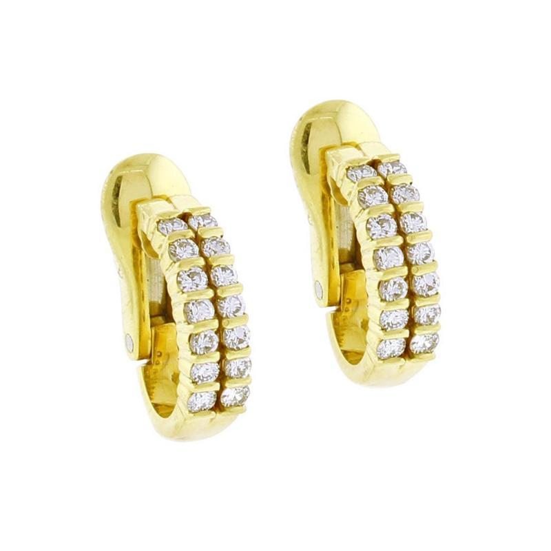 Tiffany and Co Tiffany Co Diamond Hoop Earrings
