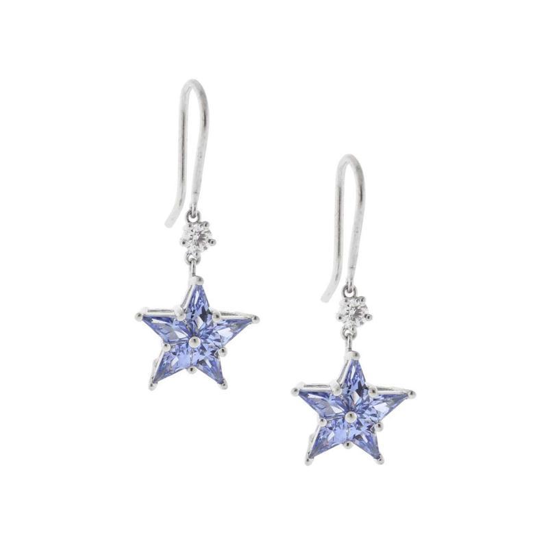 Tiffany and Co Tiffany Co Diamond and Sapphire Star Earrings