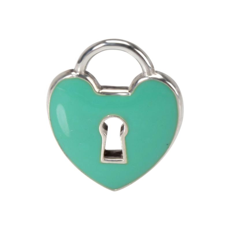 Tiffany and Co Tiffany Co Enamel Heart Padlock Charm Charms in Sterling Silver