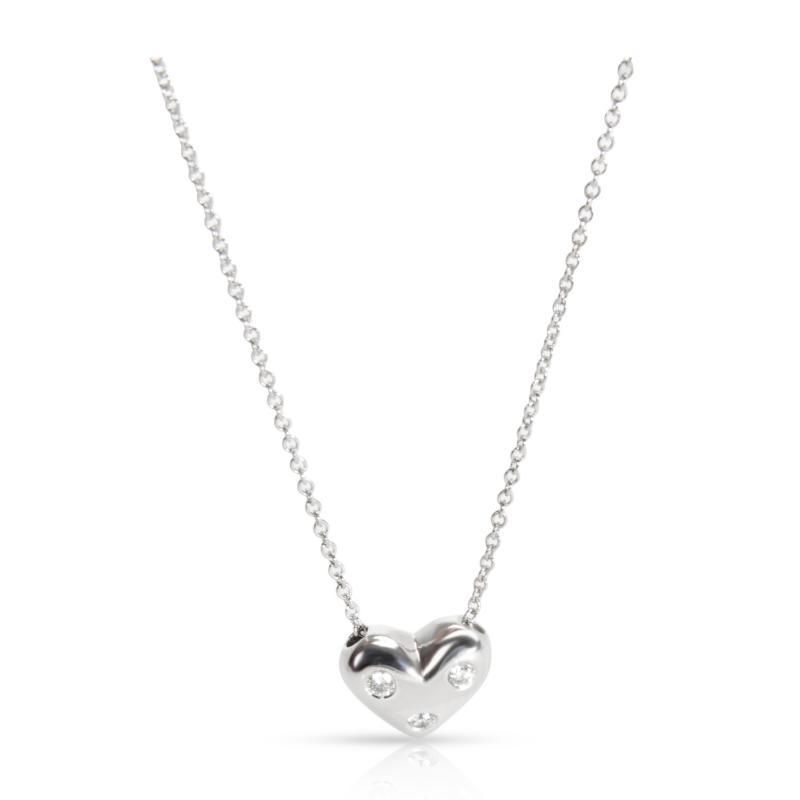 Tiffany and Co Tiffany Co Mini Etiole Diamond Necklace in Platinum 0 08 CTW