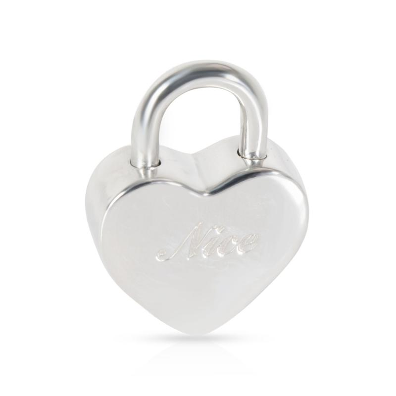 Tiffany and Co Tiffany Co Naughty and Nice Heart Padlock Charm in Sterling Silver