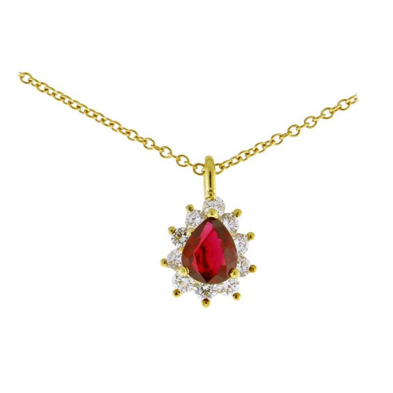 Tiffany and Co Tiffany Co Ruby and Diamond Pendant Necklace