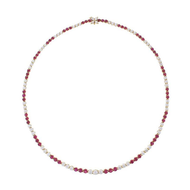 Tiffany and Co Tiffany Co Ruby and Diamond Victoria Necklace