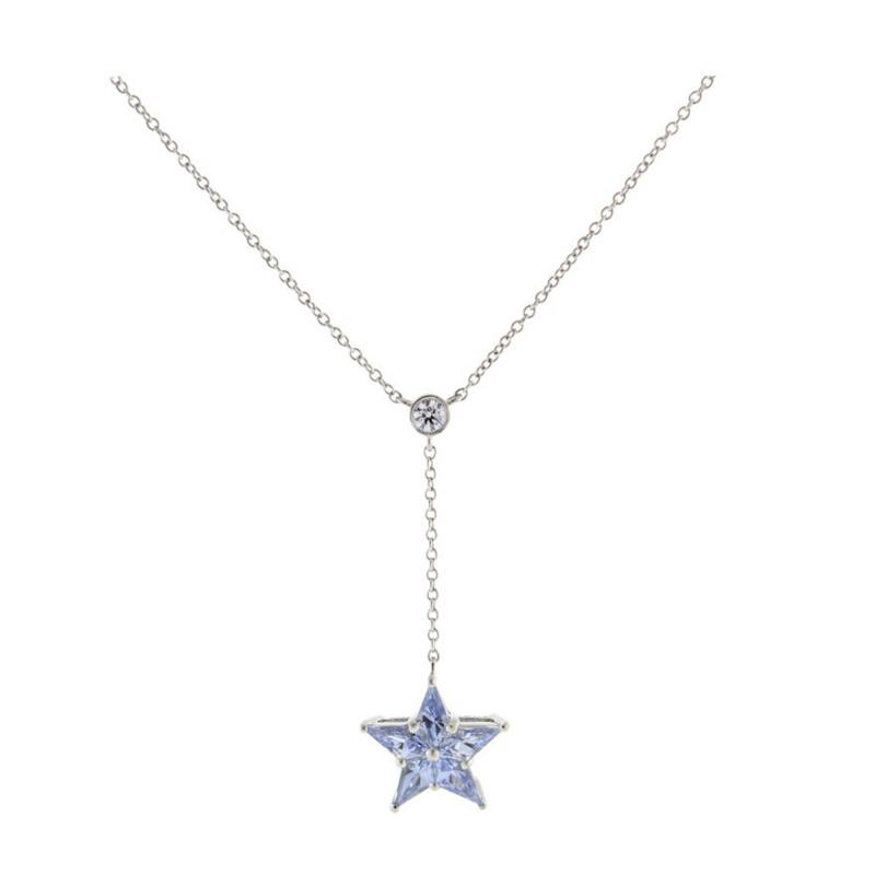 Tiffany and Co Tiffany Co Sapphire Star Pendant Necklace