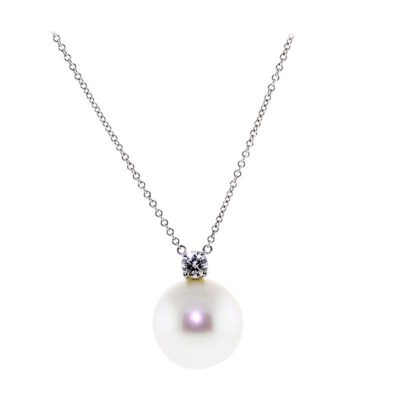 Tiffany and Co Tiffany Co South Sea Pearl and Diamond Drop Pendant Necklace