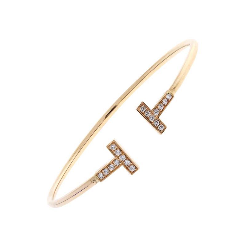 Tiffany and Co Tiffany Co T Wire Diamond Bracelet