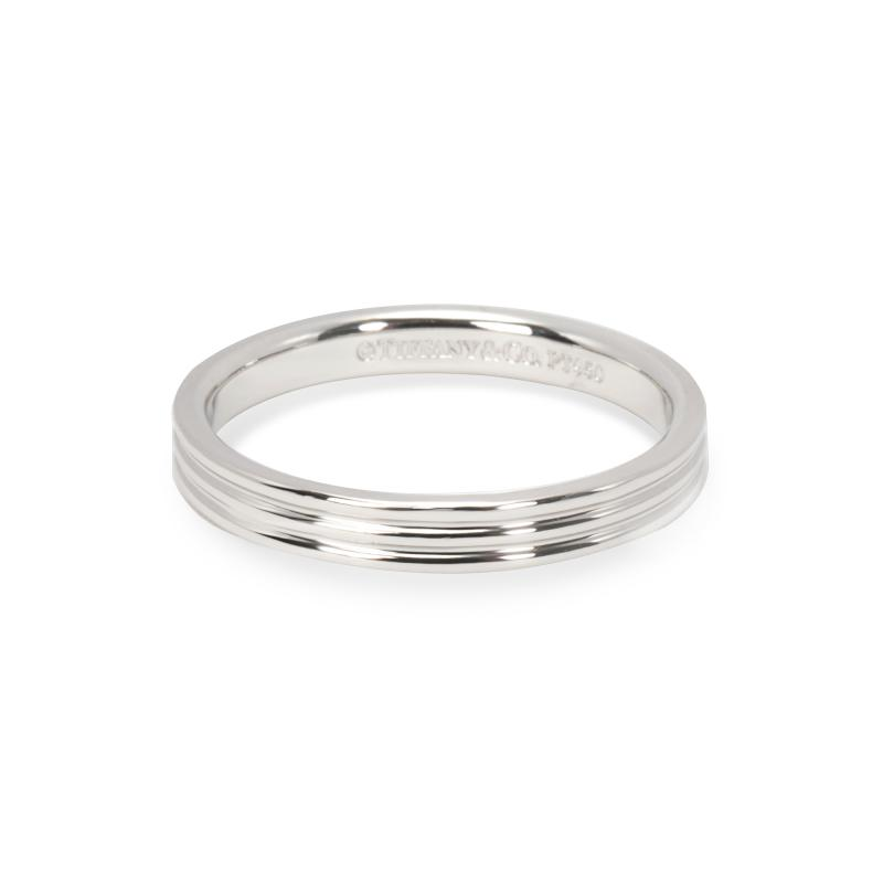 Tiffany and Co Tiffany Co Three Line Band in Platinum