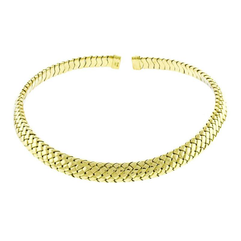 Tiffany and Co Tiffany Co Vannerie Mesh Yellow Gold Necklace Choker