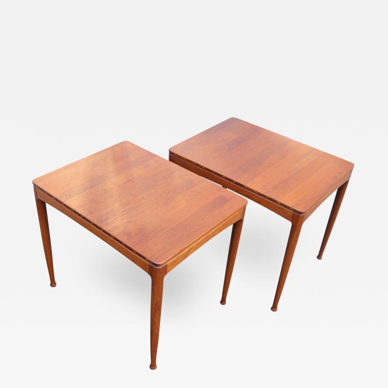 Tingstroms Stunning Pair of Solid Teak Micado Side Tables by Tingstroms