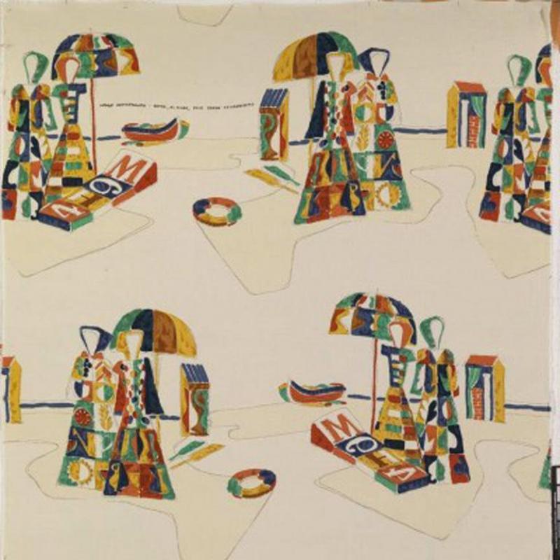 Tre 80 Gio Ponti designed Legge Mediterranea fabric by Tre 80