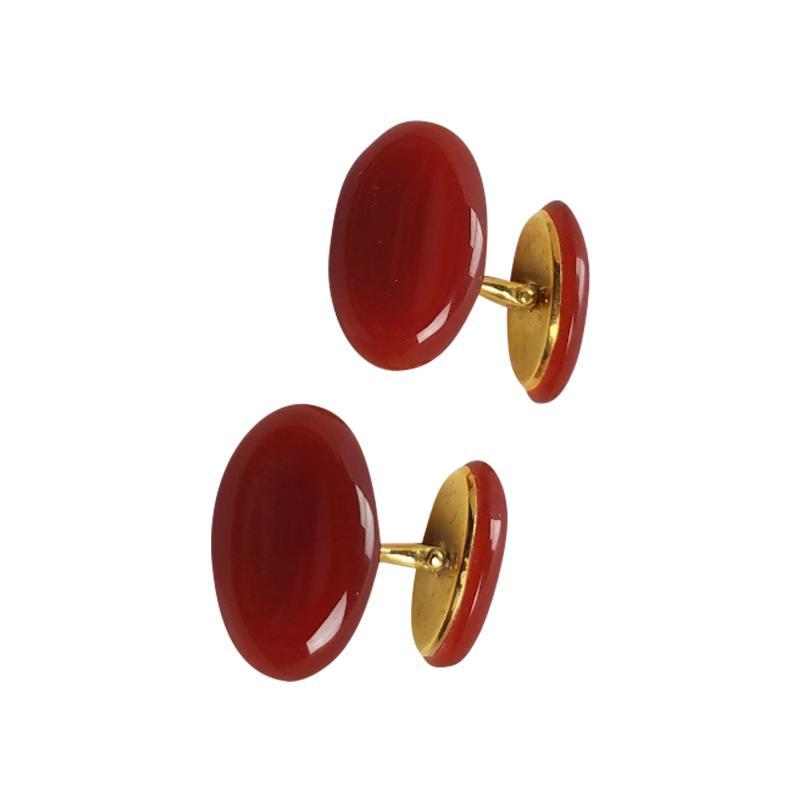 Trianon Trianon 18kt Gold and Carnelian cufflinks