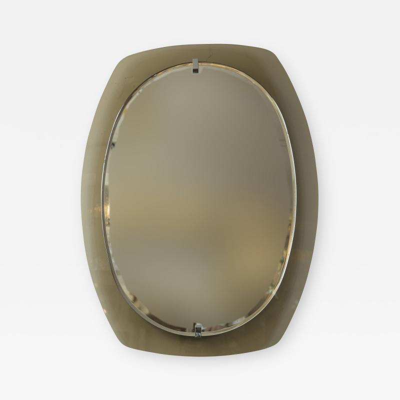 VECA Mid Century Caramel Mirror by Veca