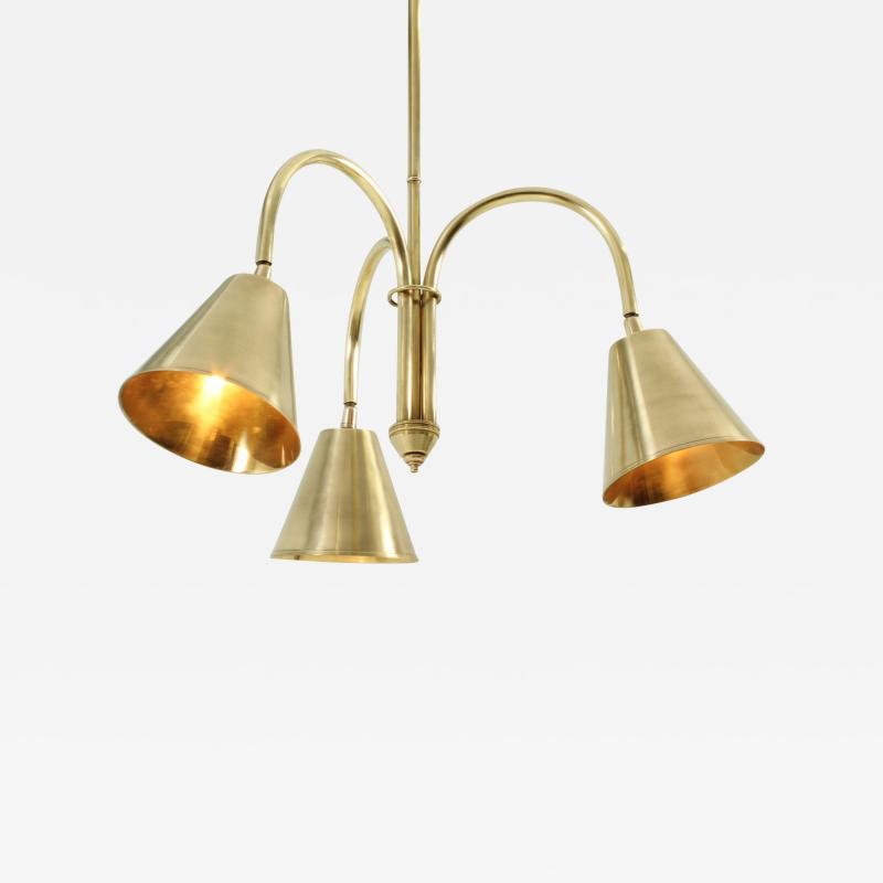 Valenti Brass Ceiling Lamp by Valenti Spain 1950s