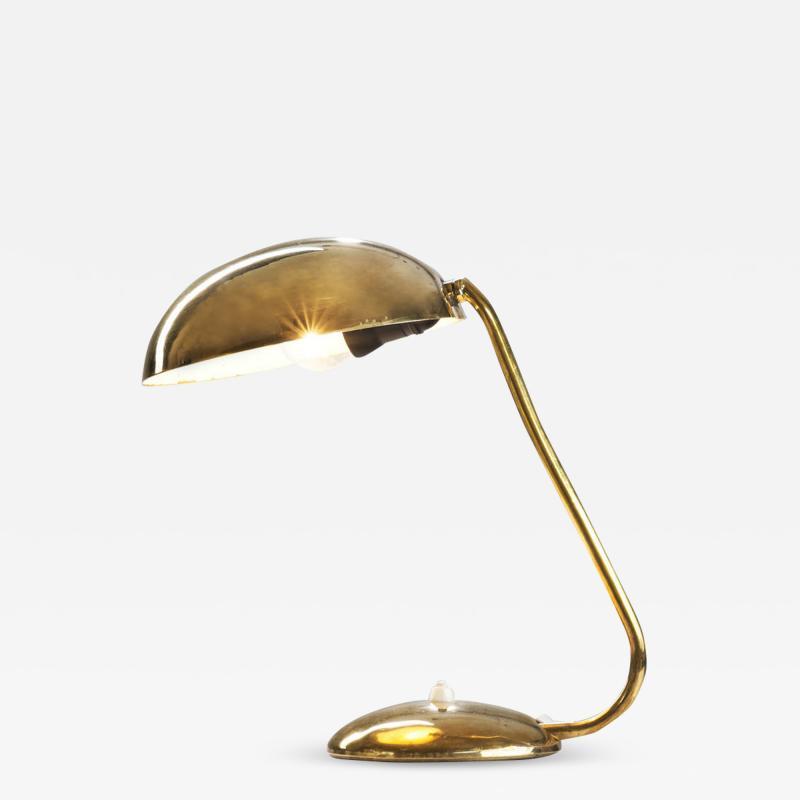 Valinte OY Mid Century Model 2433 Brass Desk Lamp by Valinte Oy Finland 1950s