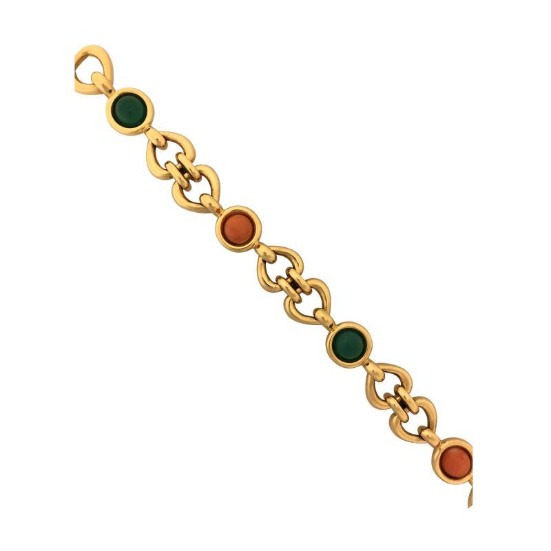 Van Cleef Arpels Can Cleef Arpels coral and chrysophrase bracelet
