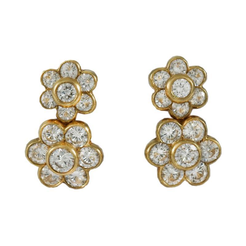 Van Cleef Arpels Van Cleef Arpels Double Flower Earrings