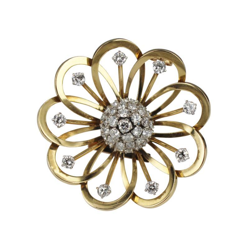 Van Cleef Arpels Van Cleef Arpels Gold and Diamond Brooch