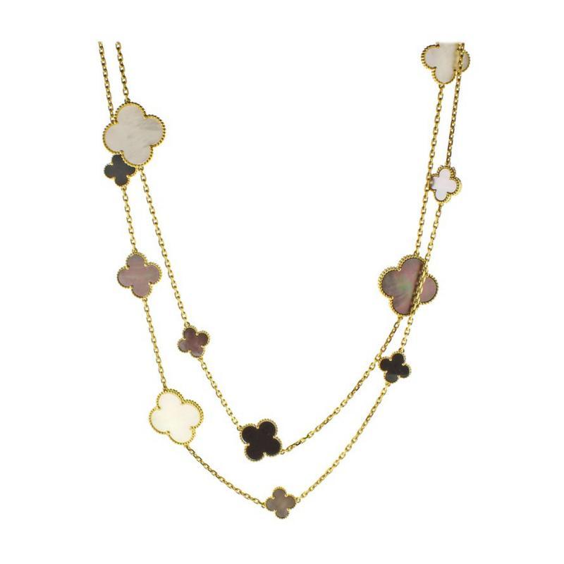 Van Cleef Arpels Van Cleef Arpels Magic Alhambra Long Necklace 16 Motifs