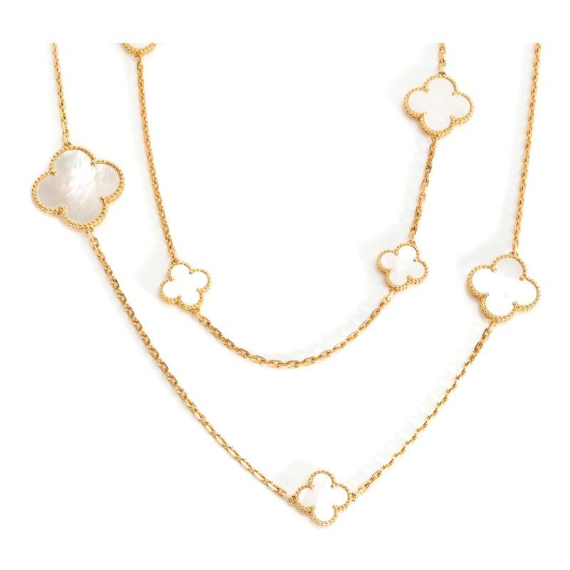 Van Cleef Arpels Van Cleef Arpels Magic Alhambra Mother of Pearl Necklace in 18K Yellow Gold