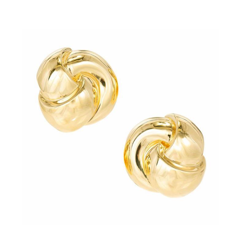 Van Cleef Arpels Van Cleef Arpels Yellow Gold Swirl Clip Post Earrings