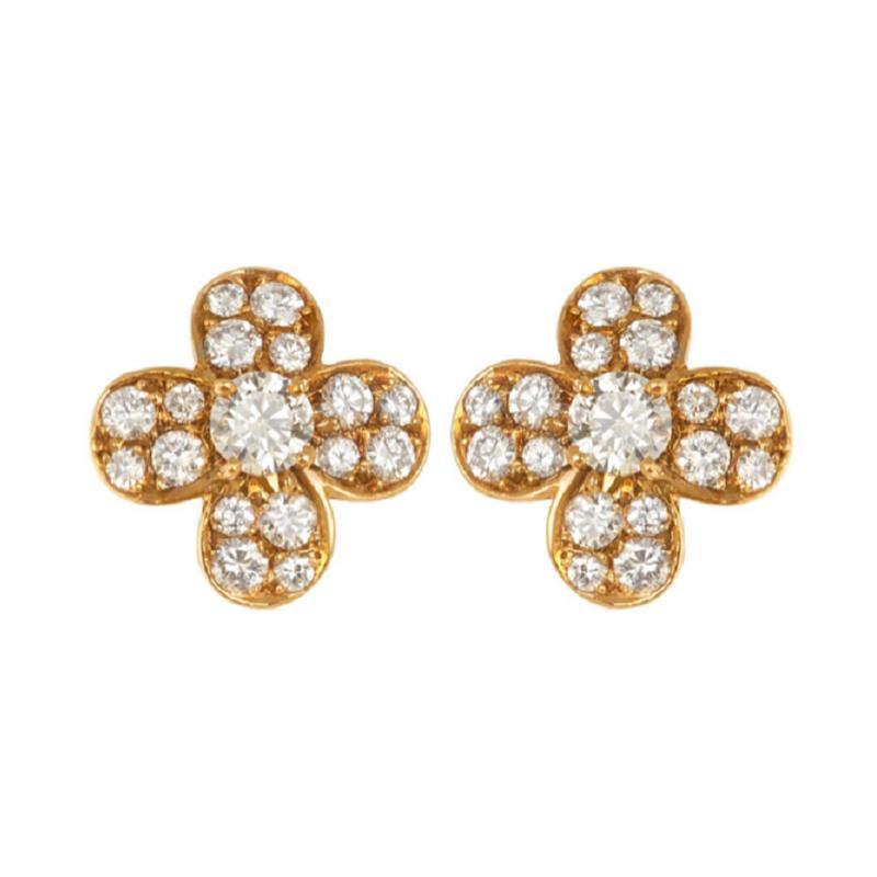 Van Cleef Arpels Van Cleef Arpels diamond clover earrings