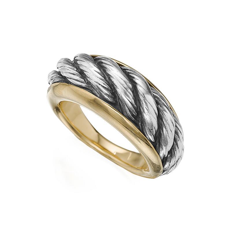Van Cleef Arpels White and Yellow Gold Ring by Van Cleef Arpels