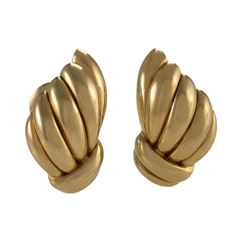 Van Cleef and Arpels Van Cleef Arpels Mid 20th Century Gold Earrings
