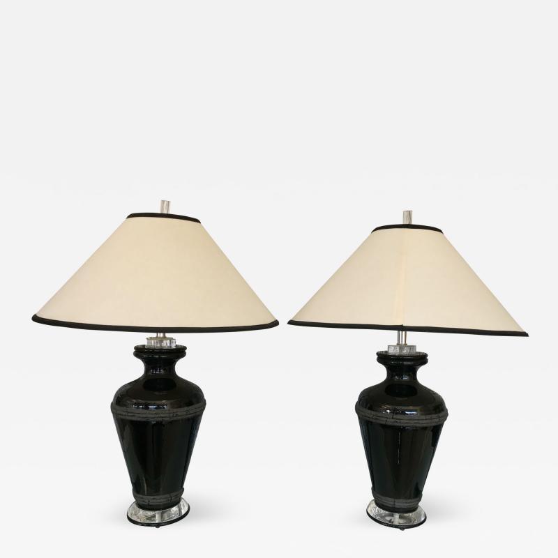 Van Teal Pair of Signed Van Teal Lamps