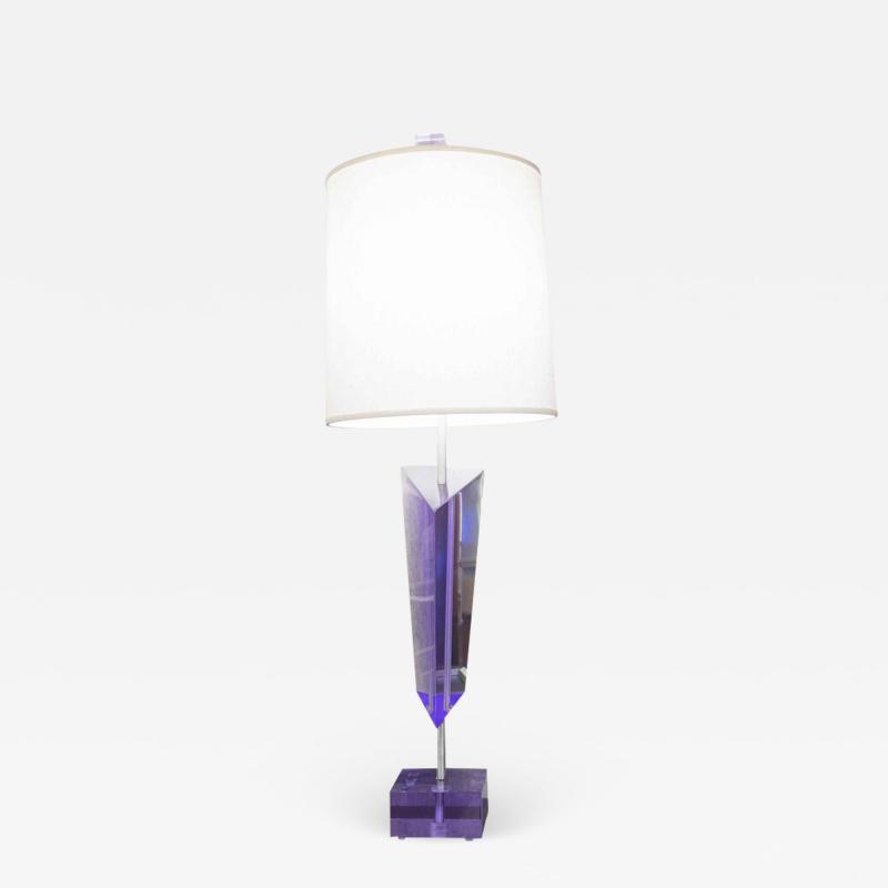 Van Teal VAN TEAL PURPLE LUCITE LAMP