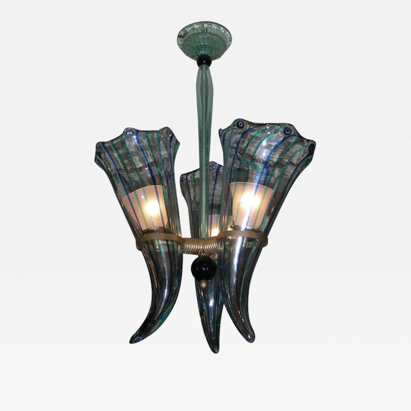 Venini 1960 s Italian Murano glass chandelier by Venini