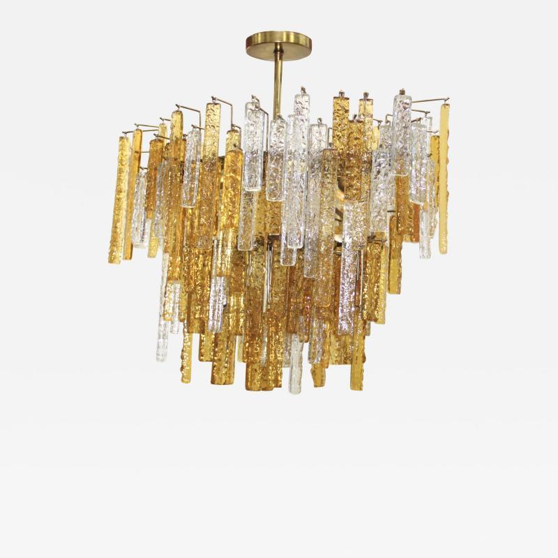 Venini 1960s Mid Century Modern Venini Glass Oval Chandelier