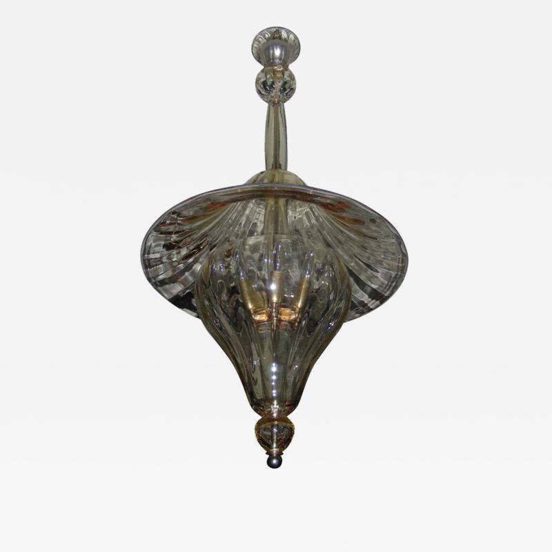 Venini 1960s Murano glass lantern by Venini