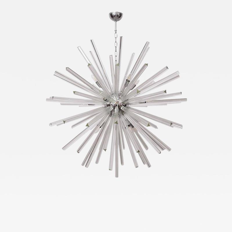 Venini Extraordinary Huge Murano Glass Sputnik Chandelier in the manner of Venini