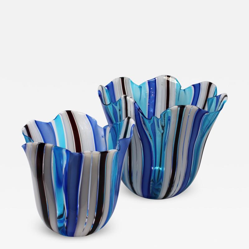 Venini Fazzoletto Handkerchief Vases by Venini