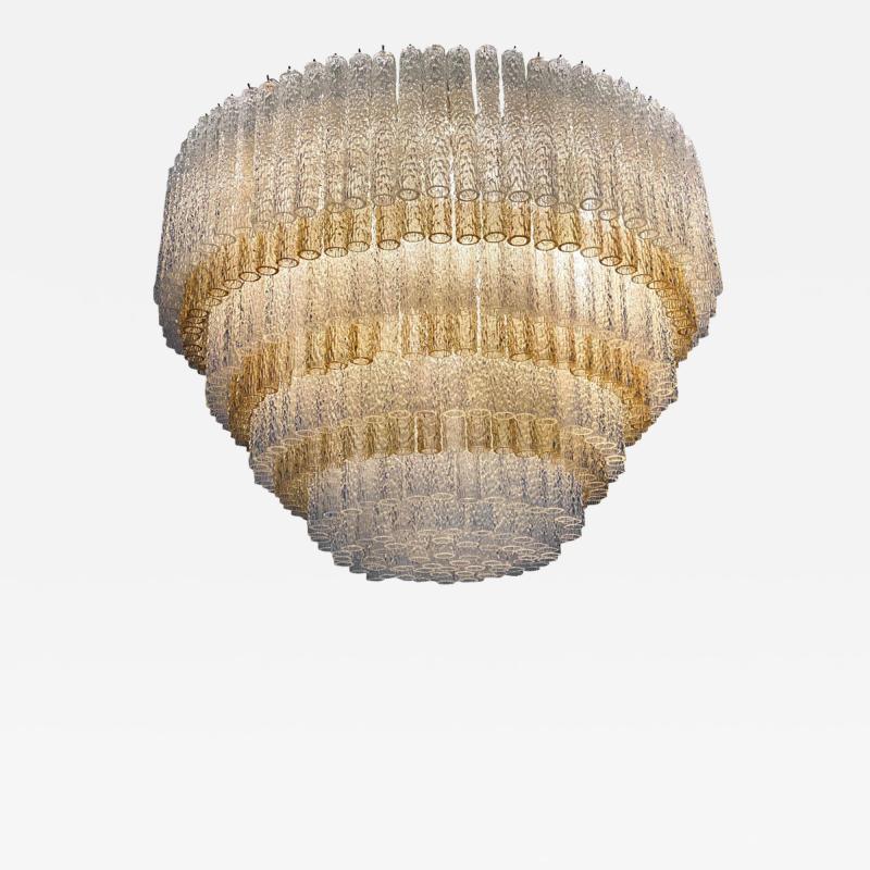 Venini Monumental Italian Murano Glass Chandelier or Ceiling Light Attr Venini 1970
