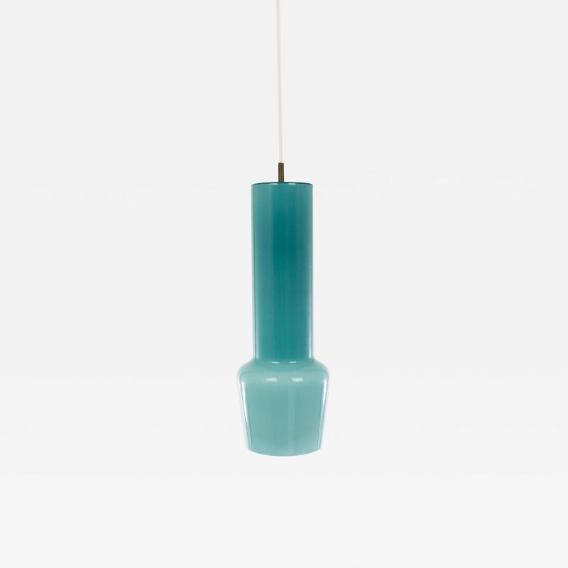 Venini Turquoise glass pendant by Massimo Vignelli for Venini 1950s
