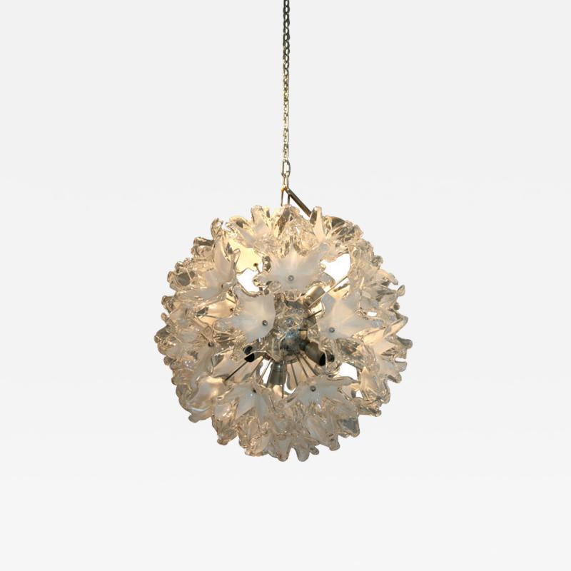 Venini Venini Glass Two Tone Flower Glass Sputnik