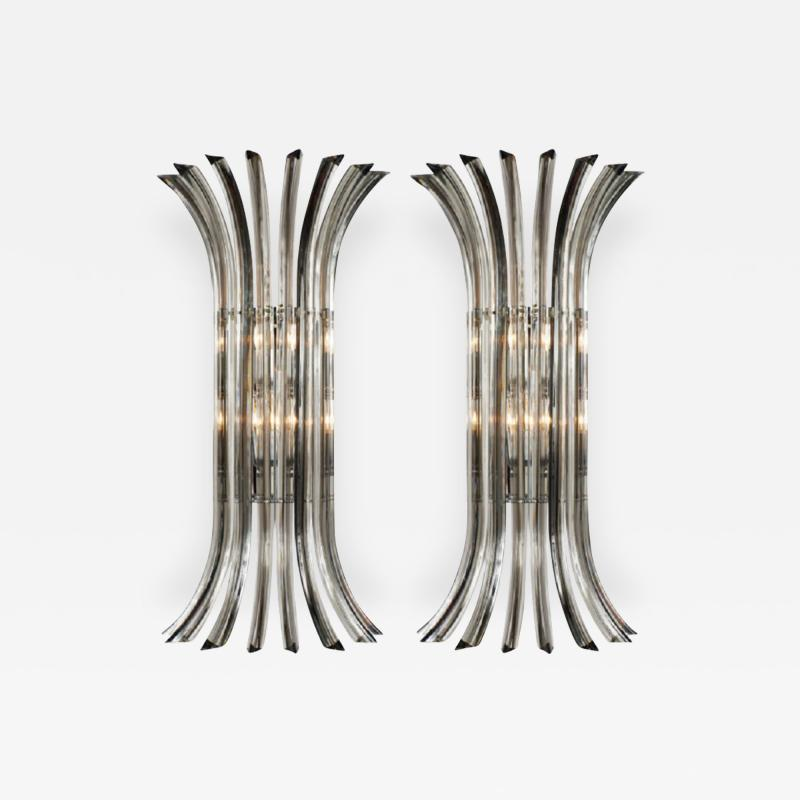Venini Venini Murano Glass Wall Sconces