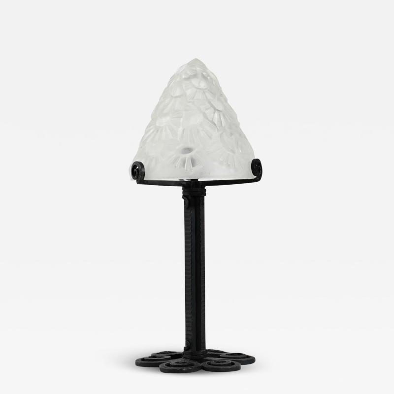 Verrerie d Art Degu Small Art Deco Table Lamp By Degu
