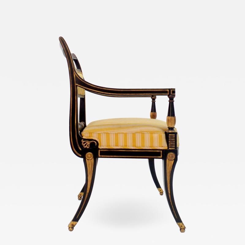 Victoria Son Regency Style Sabre Leg Armchair