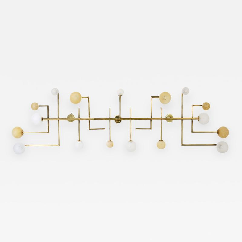Vintage Domus Collection large applique in brass and glass