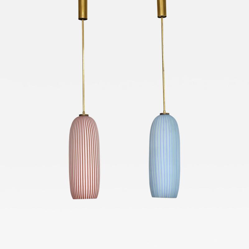 Vistosi A pair of mid century Murano pendants by Vistosi