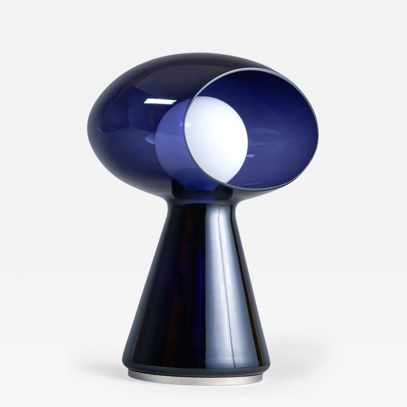 Vistosi Rare Purple Vistosi Murano Glass Table Lamp 1970s