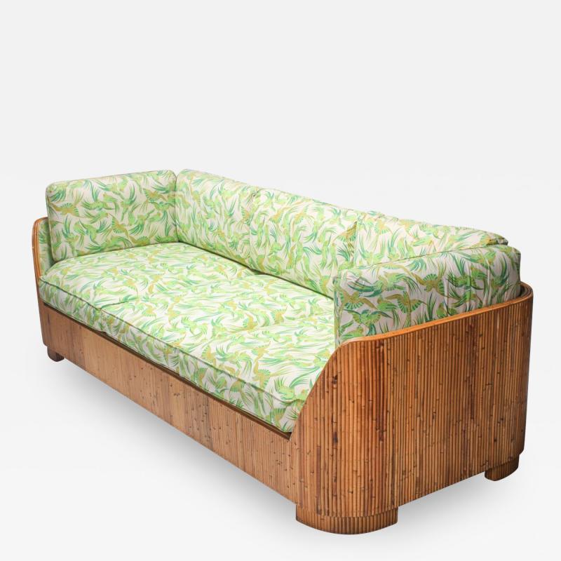 Vivai del Sud Bamboo Couch by Vivai del Sud 1970s