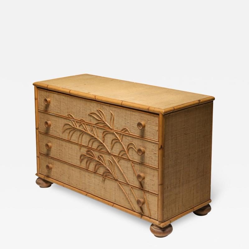 Vivai del Sud Vivai del Sud Bamboo Chest of Drawers Italy 1970s