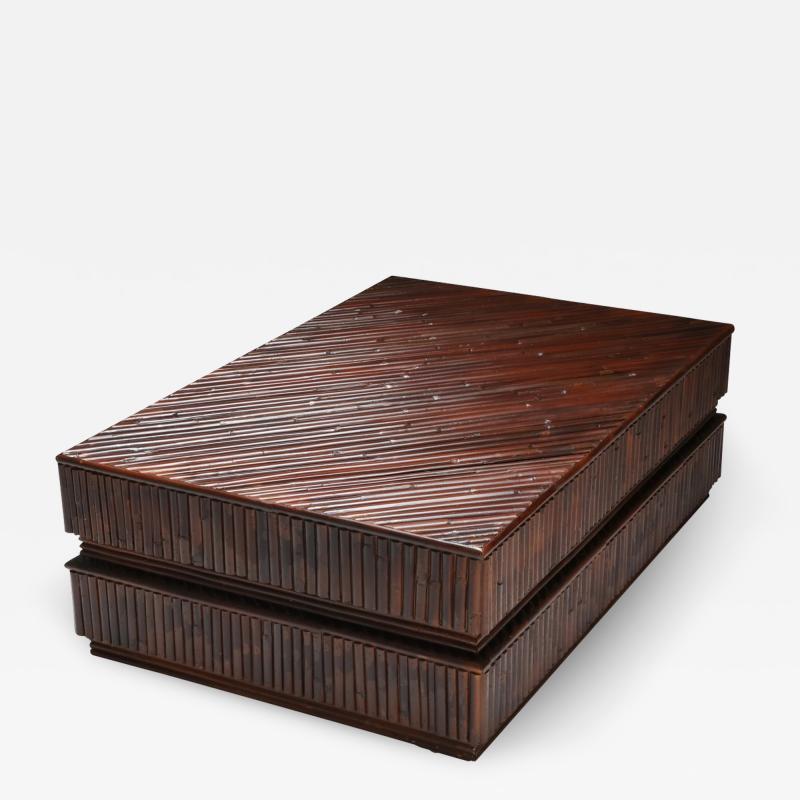 Vivai del Sud Vivai del Sud Bamboo Sliding Table 1970s