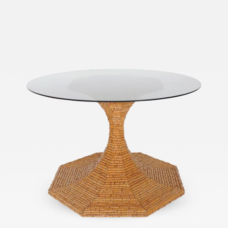 Vivai del Sud Vivai del Sud Bamboo dining table Italy 1970s